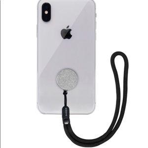 Moxyo Zigi Silver Glitter Band Phone Lanyard